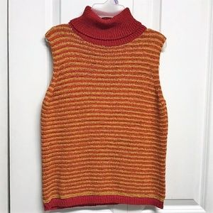 Marisa Christina Turtle Neck Sweater Size M Stripe